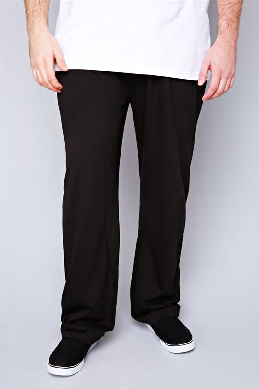 D555 Black Lightweight Fleece Jogging Bottoms