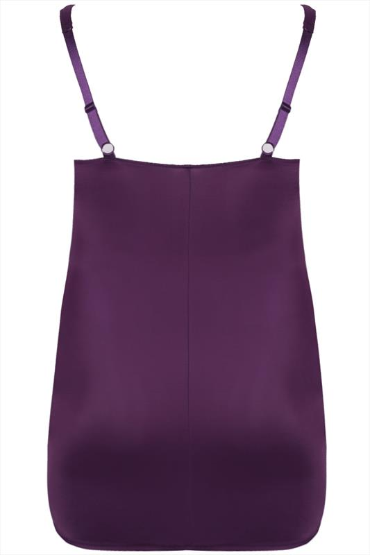 Purple Underbra Smoothing Onderjurk Met strak in de hand