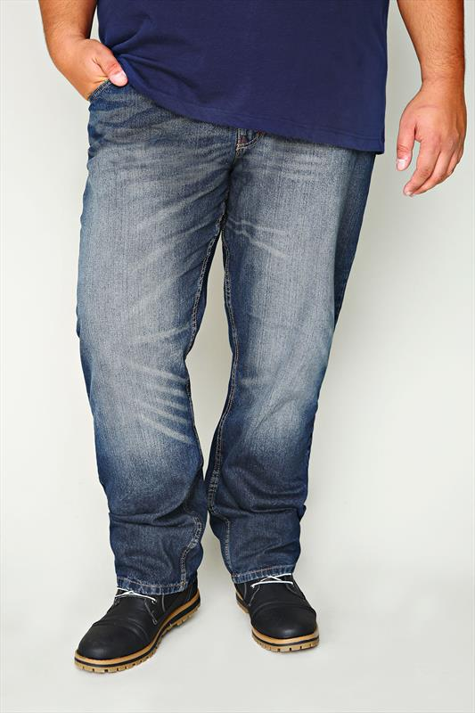 D555 Blue Denim 5 Pocket Jeans