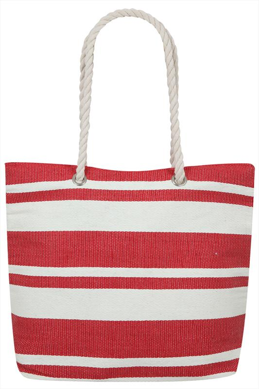 Nautical Red and Cream Beach Bag i3VBvh