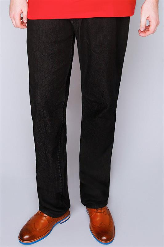 Straight Rockford Black Stretch Jeans - TALL 070423