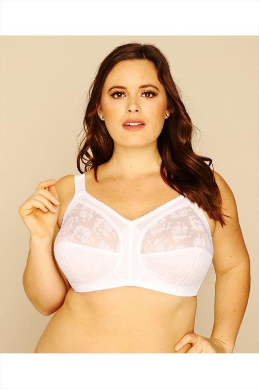TRIUMPH Classic Doreen White Non-Wired Lace Bra