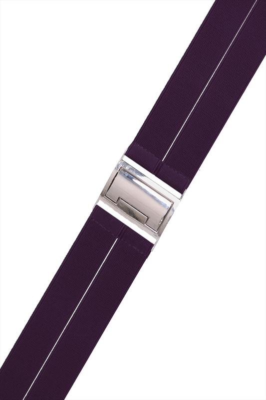Purple Stretch Waist Belt With Silver Clasp