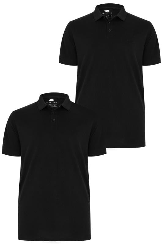 Polo Shirts 2 PACK BadRhino Black Basic Polo Shirt 200575