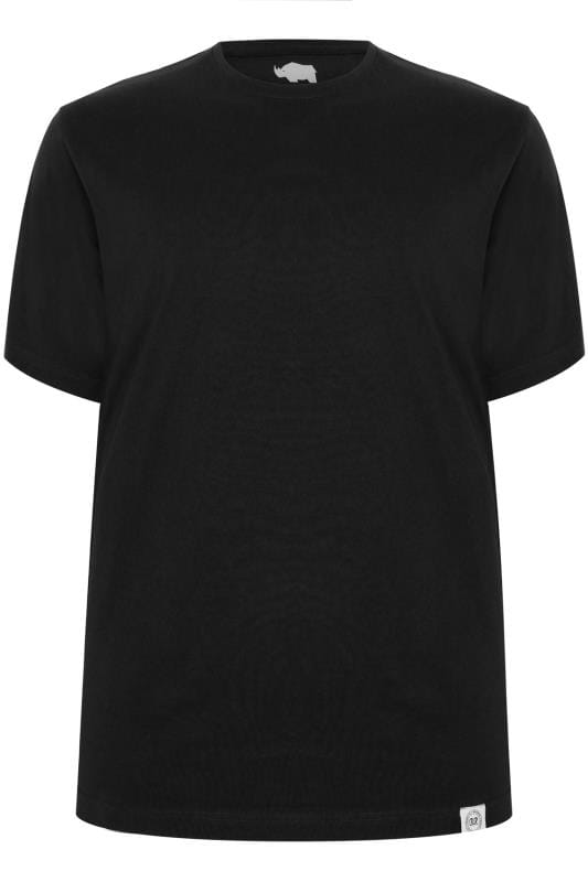 2 PACK BadRhino Black Crew Neck Basic T-Shirt