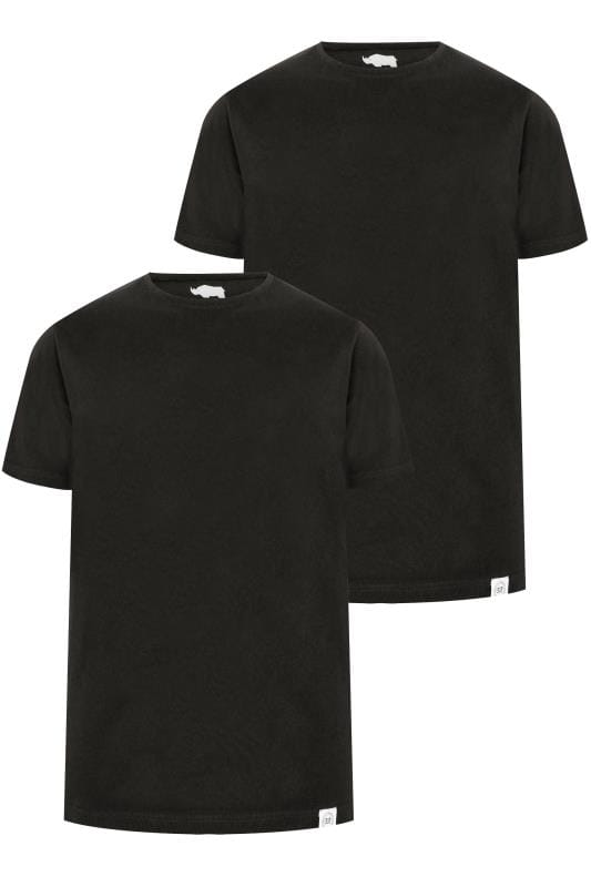 T-Shirts 2 PACK BadRhino Black Crew Neck Basic T-Shirt 200564