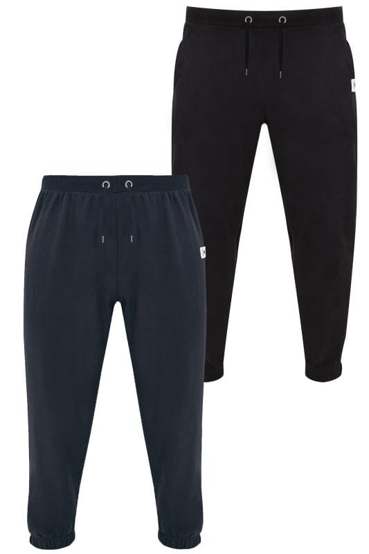 2 PACK BadRhino Black & Navy Basic Sweat Joggers With Pockets