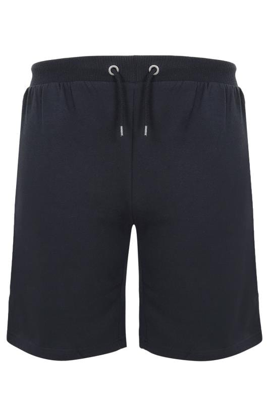 2 PACK BadRhino Navy & Grey Marl Basic Sweat Shorts With Pockets
