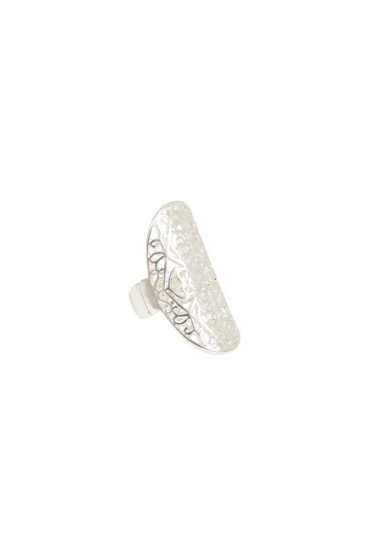 2 PACK Silver Filigree Rings
