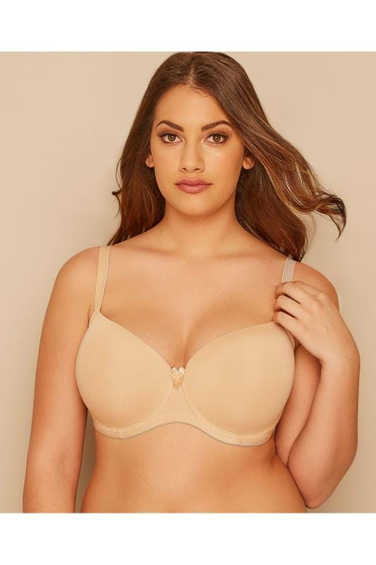 2 PACK White & Nude Moulded T-Shirt Bra