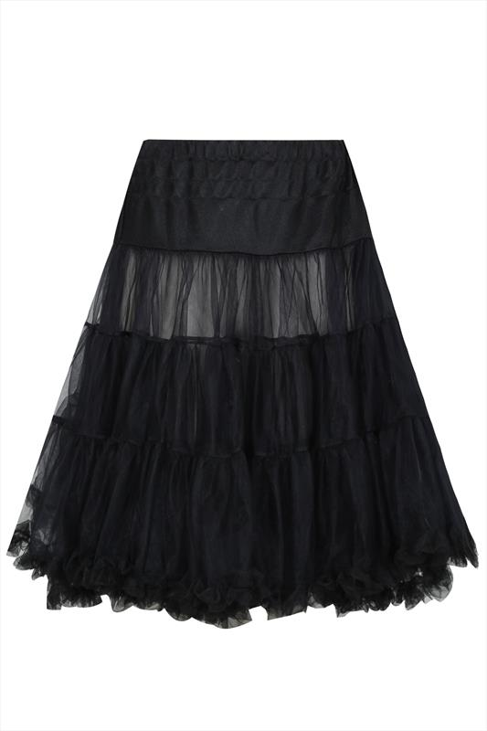 Hell Bunny Black Petticoat Flare Skirt Plus Sizes 14 16 18