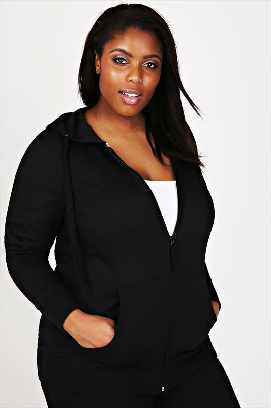 Westrock Bay Black Hoodie With Zip Fastening