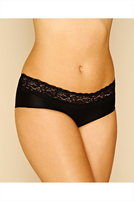 Black No VPL Brief With Lace Waist Trim