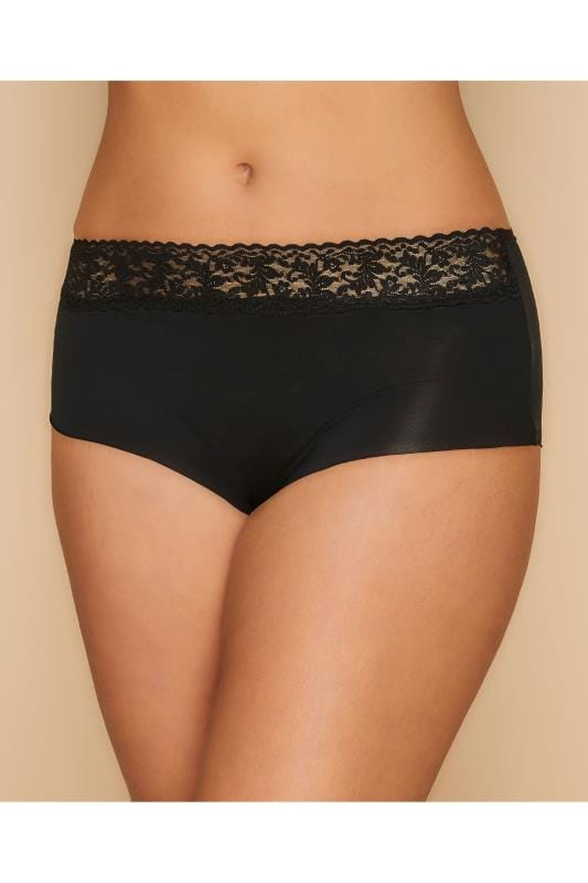 Plus Size Multipacks 3 PACK Black No VPL Shorts