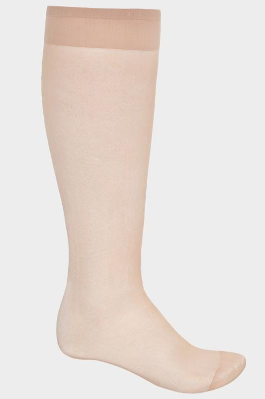 3 PACK Natural Sheer Knee High Socks