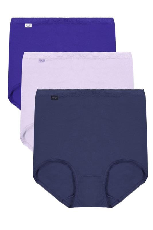 Briefs 3 PACK SLOGGI Blue, Navy & Purple Basic Full Briefs 138404