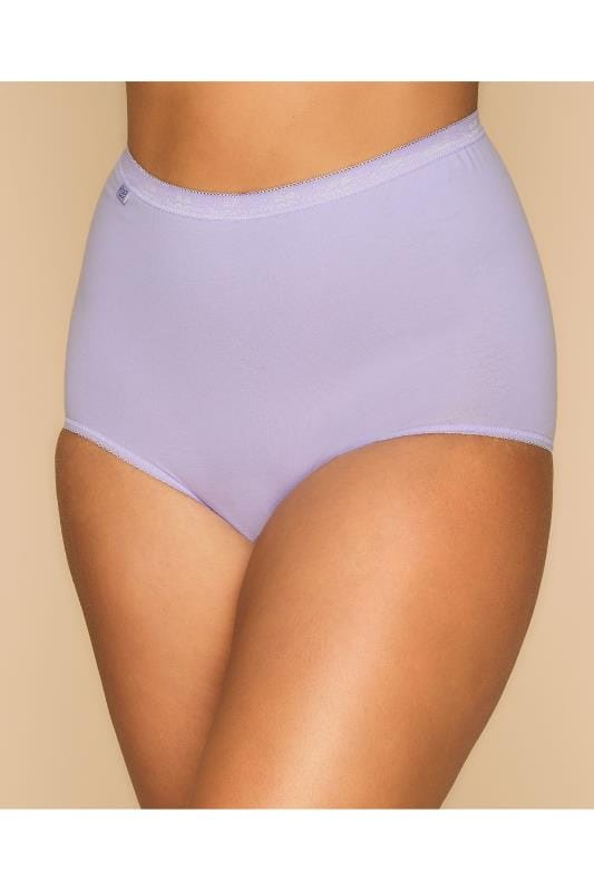 3 PACK SLOGGI Blue, Navy & Purple Basic Full Briefs