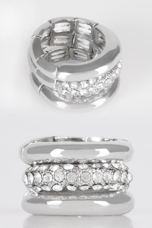 3 PACK Silver Stack Rings