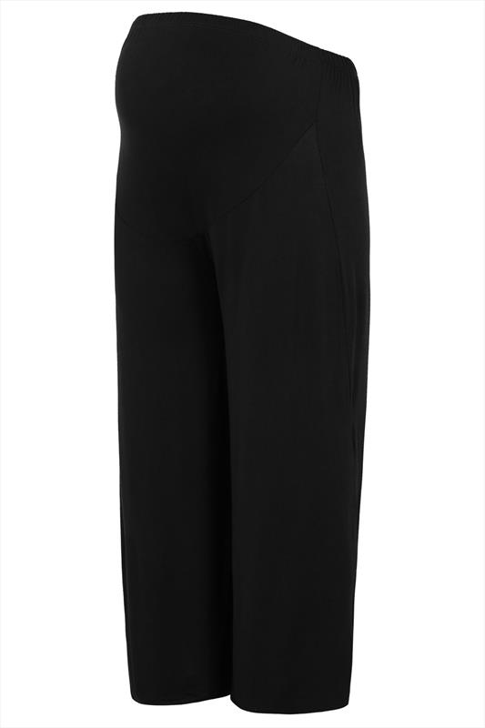 Bump It Up Maternity Black Palazzo Trousers With Comfort