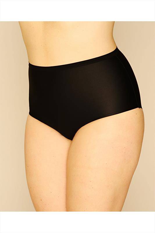 Briefs & Knickers Black Brushed Microfibre Soft Touch No VPL Shorts 014310
