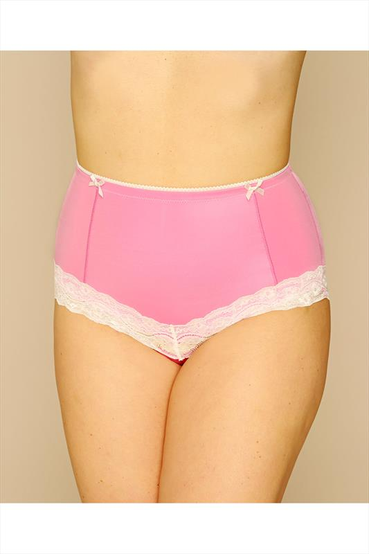 Pink Hi Waist Short With Curve Control