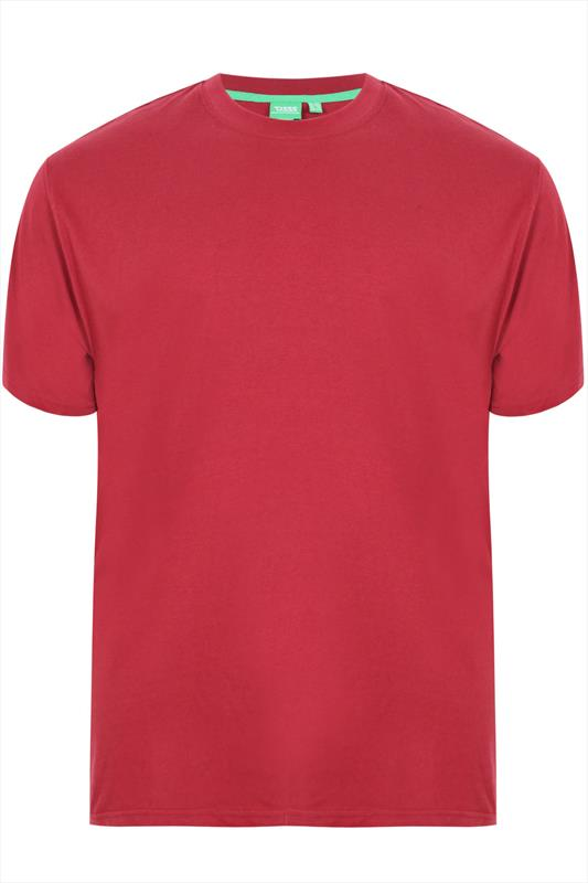 D555 Red Cotton Short Sleeve T-shirt