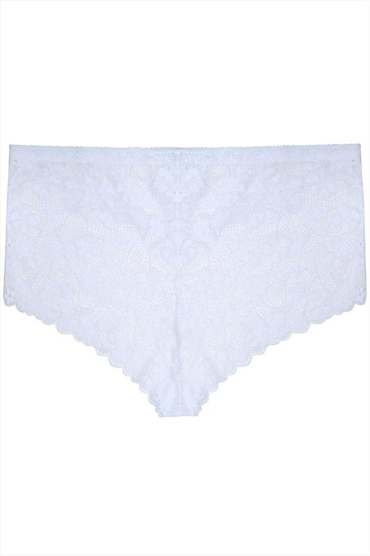 White All Lace Short