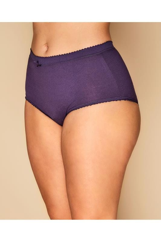 Plus Size Briefs 5 PACK Multicoloured Full Briefs