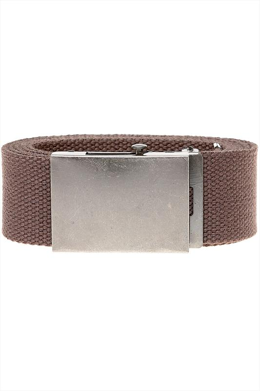 D555 King Size Brown Webbing Belt
