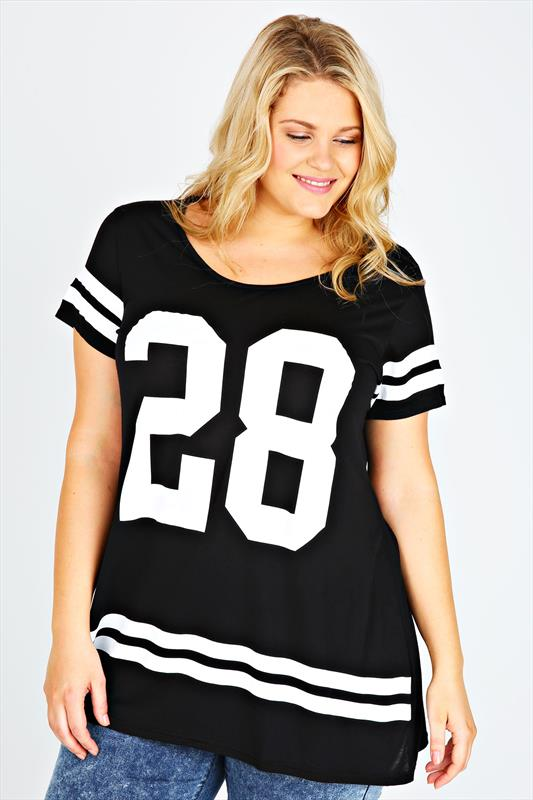 Black And White No.28 Print Short Sleeve T-shirt