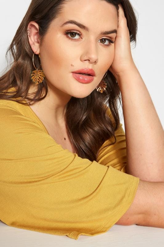 Plus Size Jewellery 6 PACK Gold Tropical Earrings