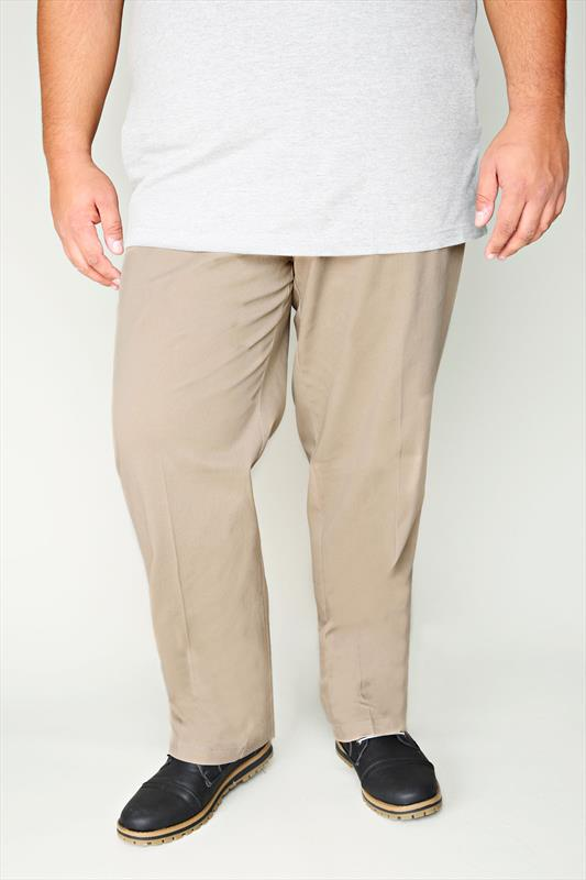 D555 Tan 4 Pocket Straight Leg Trousers