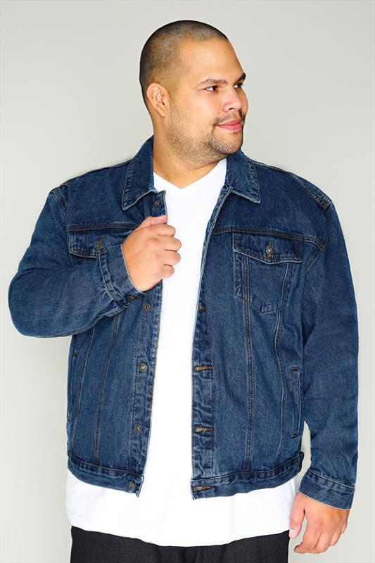 DUKE Denim Jacket With Collar & Button Front