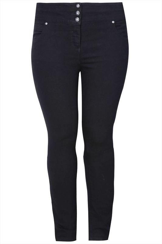 "30"" Black Highwaisted Skinny SHAPER Jeans"