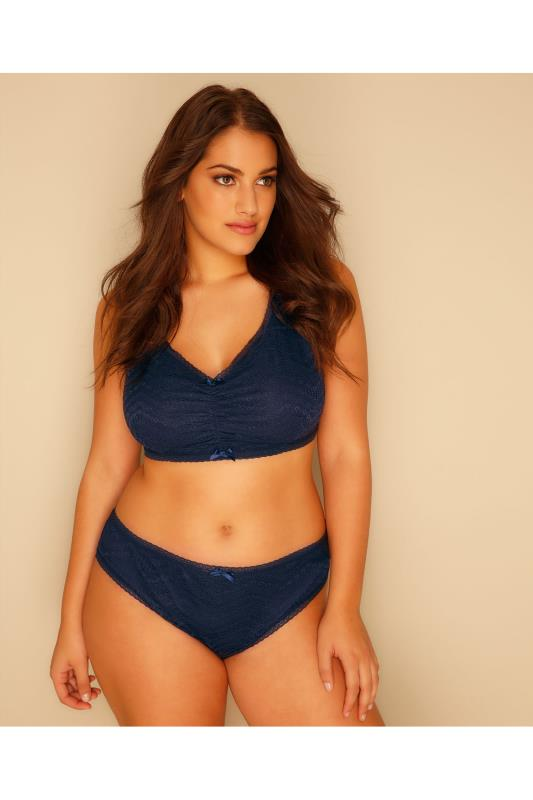 Navy All Over Lace Brief