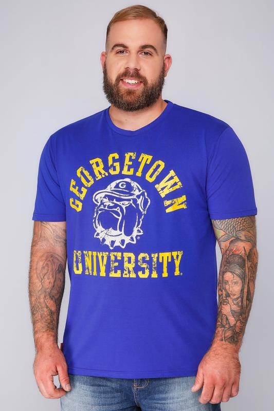 AMERICAN FRESHMAN Blue Crew Neck Short Sleeve T-Shirt