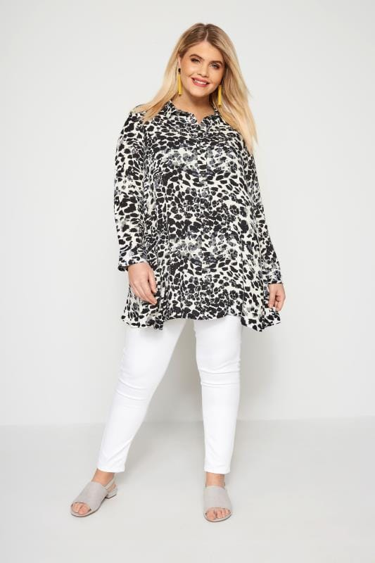 Black & White Animal Print Shirt