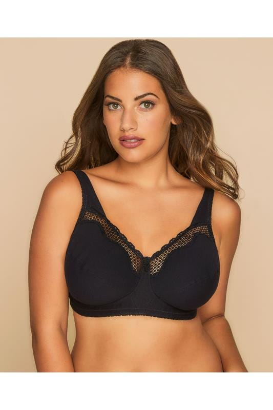 BESTFORM Black Cotton Comfort Non-Wired Bra