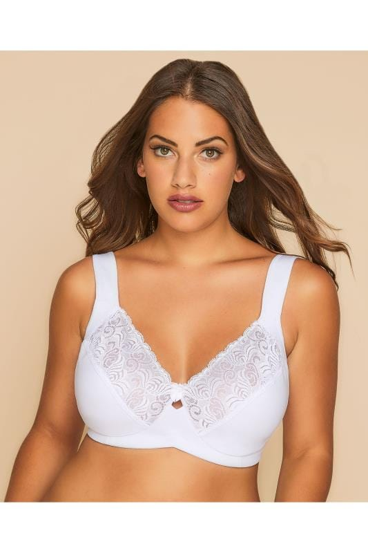 BESTFORM White Feminine Comfort Non-Wired Bra
