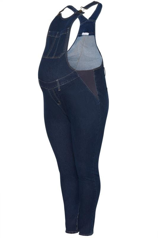 Plus Size Maternity Jeans & Jeggings BUMP IT UP MATERNITY Blue Denim Dungarees