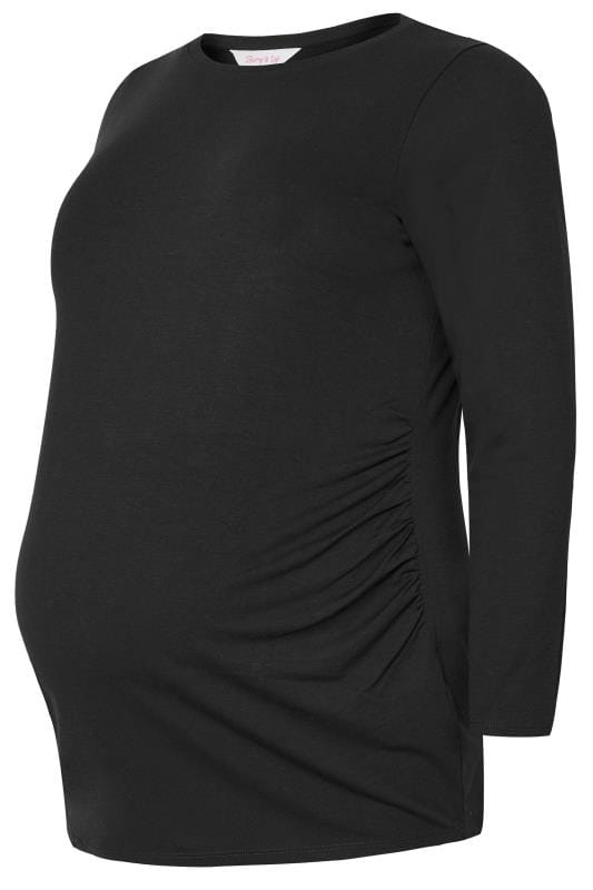 Plus Size Maternity Tops BUMP IT UP MATERNITY Black Long Sleeve Top