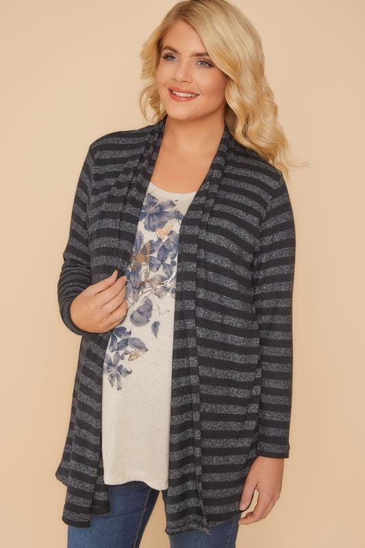 Cardigans & Shrugs BUMP IT UP Black & Grey 2 in 1 Nursing Cardigan 158050