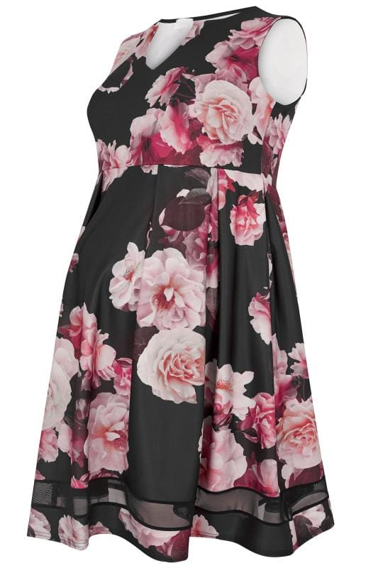 Tallas Grandes Vestidos negros BUMP IT UP MATERNITY Vestido rosa de flores