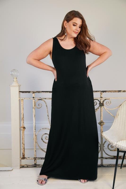 BUMP IT UP MATERNITY Black Maxi Dress