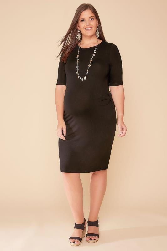 Kleider BUMP IT UP MATERNITY Black Tube Midi Dress 158055
