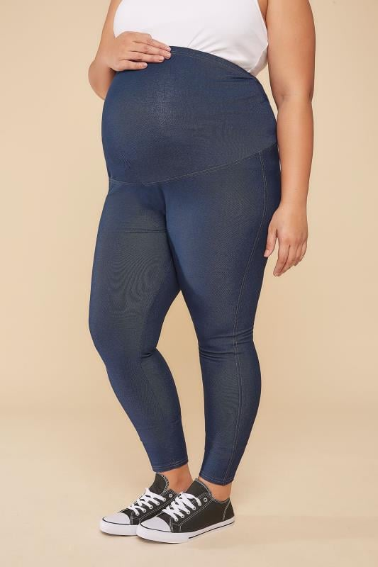 Jeans & Jeggings BUMP IT UP MATERNITY Indigo Jeggings With Comfort Panel 158031