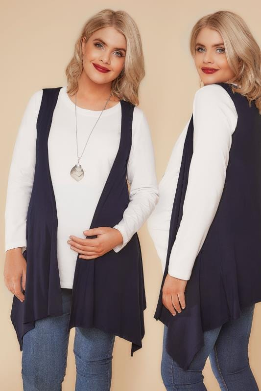 Cardigans et Gilets BUMP IT UP MATERNITY - Gilet Sans Manches Bleu Navy  158071