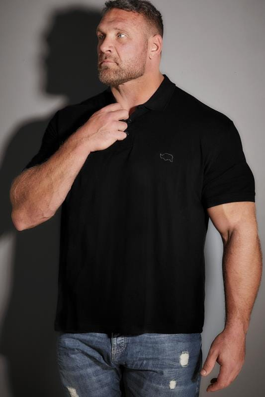 Polo Shirts BadRhino Black Basic Polo Shirt 200086
