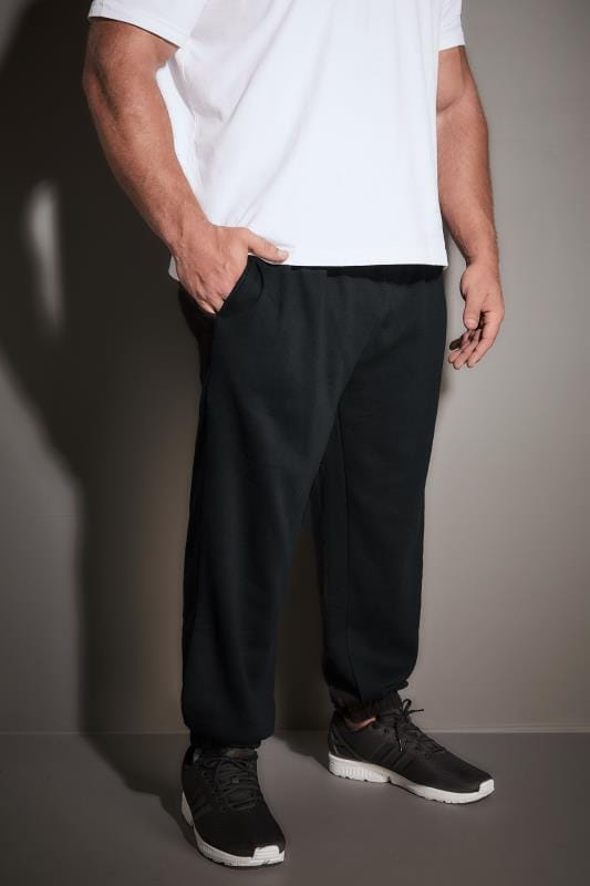 BadRhino Black Basic Sweat Joggers With Pockets