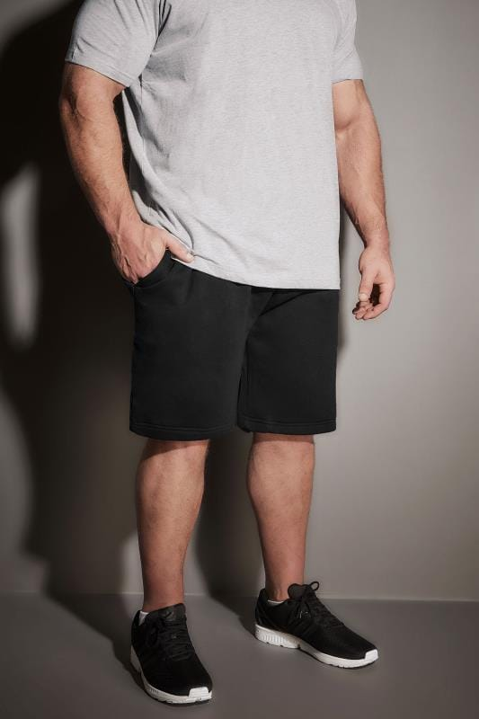 BadRhino Black Basic Sweat Shorts With Pockets